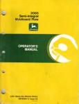 John Deere 2000 Semi-Integral Moldboard Plow Operators Manual