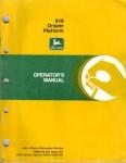 John Deere 918 Draper Platform Factory Operators Manual