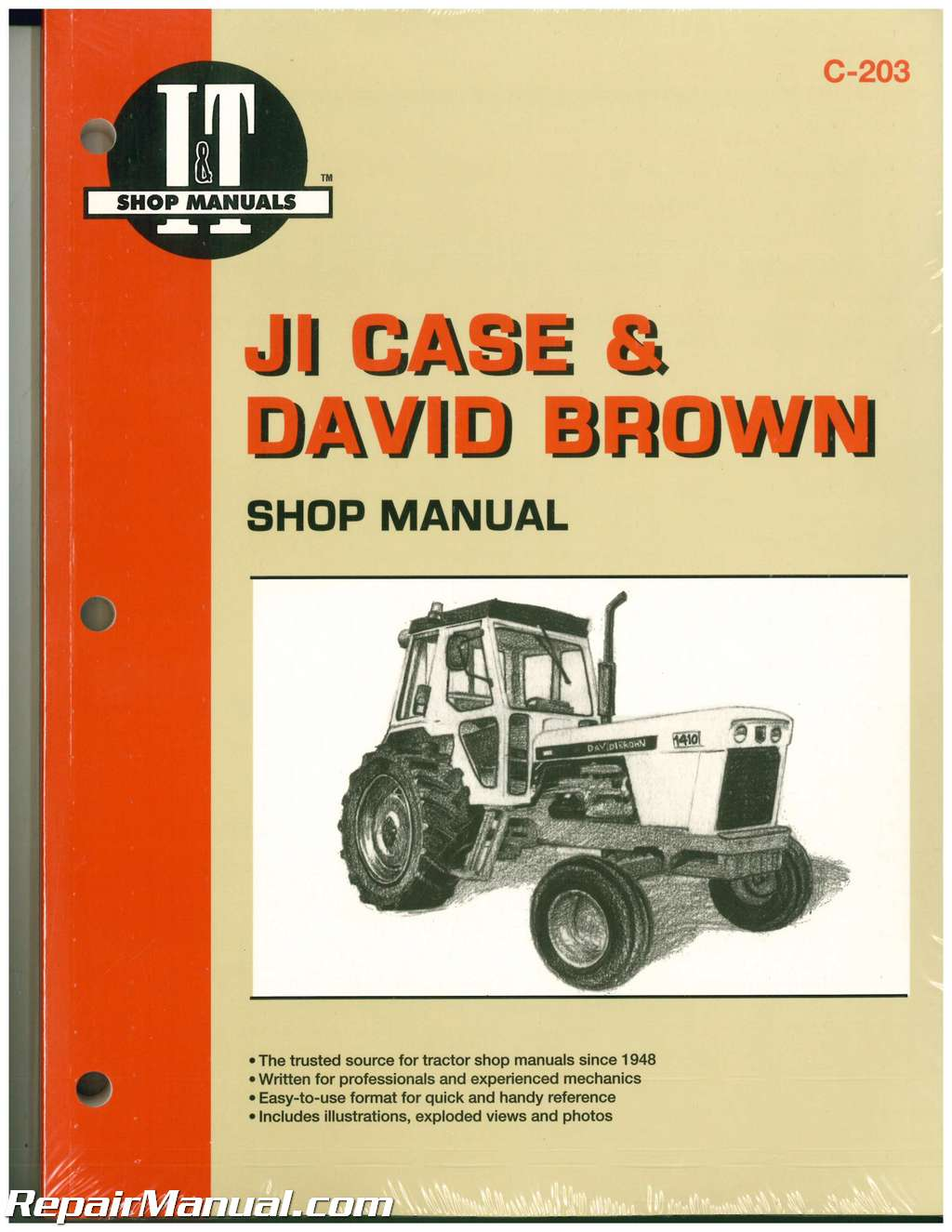JI CASE and David Brown Farm Tractor Service Manual_001 case tractor manuals repair manuals online  at eliteediting.co