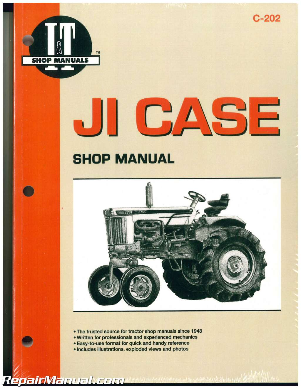 JI Case David Brown Tractor Repair Manual 430 440 470 500 530 540, 570 600  630 640 730 830 900B 930 1030