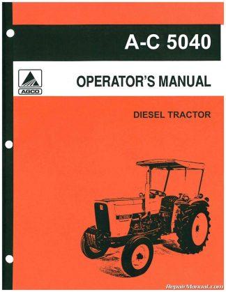 Allis-Chalmers 5040 6 Speed 9 Speed Trans Operators Manual