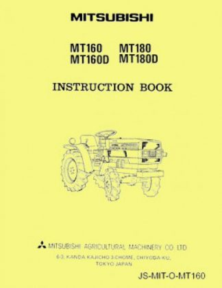 Mitsubishi MT160-MT180 Factory Owners Operators Manual