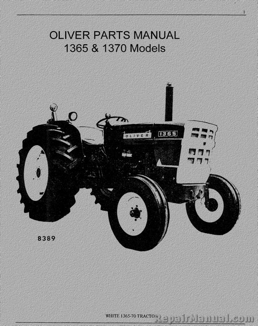 Oliver Amp Cockshutt 1365 1370 Tractor Parts Manual