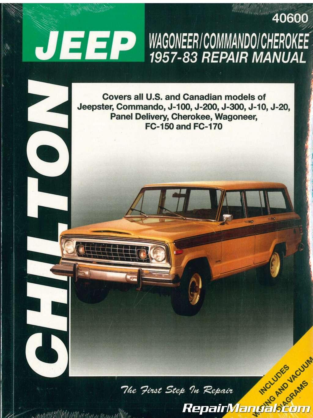 jeep wagoneer commando cherokee 1957 1983 chilton repair manual rh repairmanual com Jeep Wrangler Repair Manual Chilton Jeep CJ Rebuilders Manual