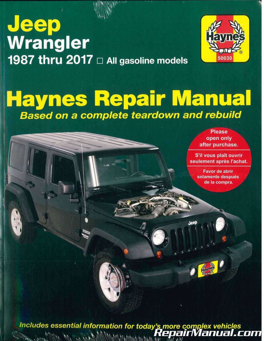 Jeep Wrangler 1987 2017 Haynes Auto Repair Manual