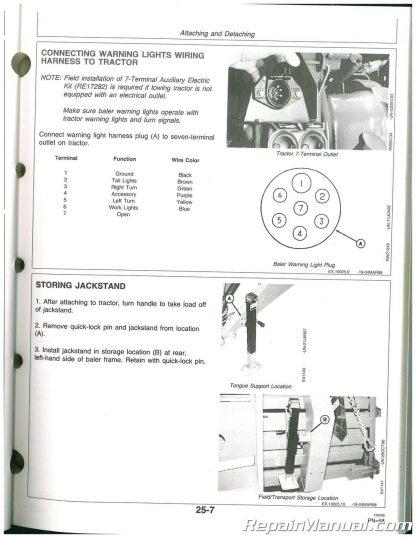 Used John Deere 100 Intermediate Square Baler Operators Manual SN 11001 and  up