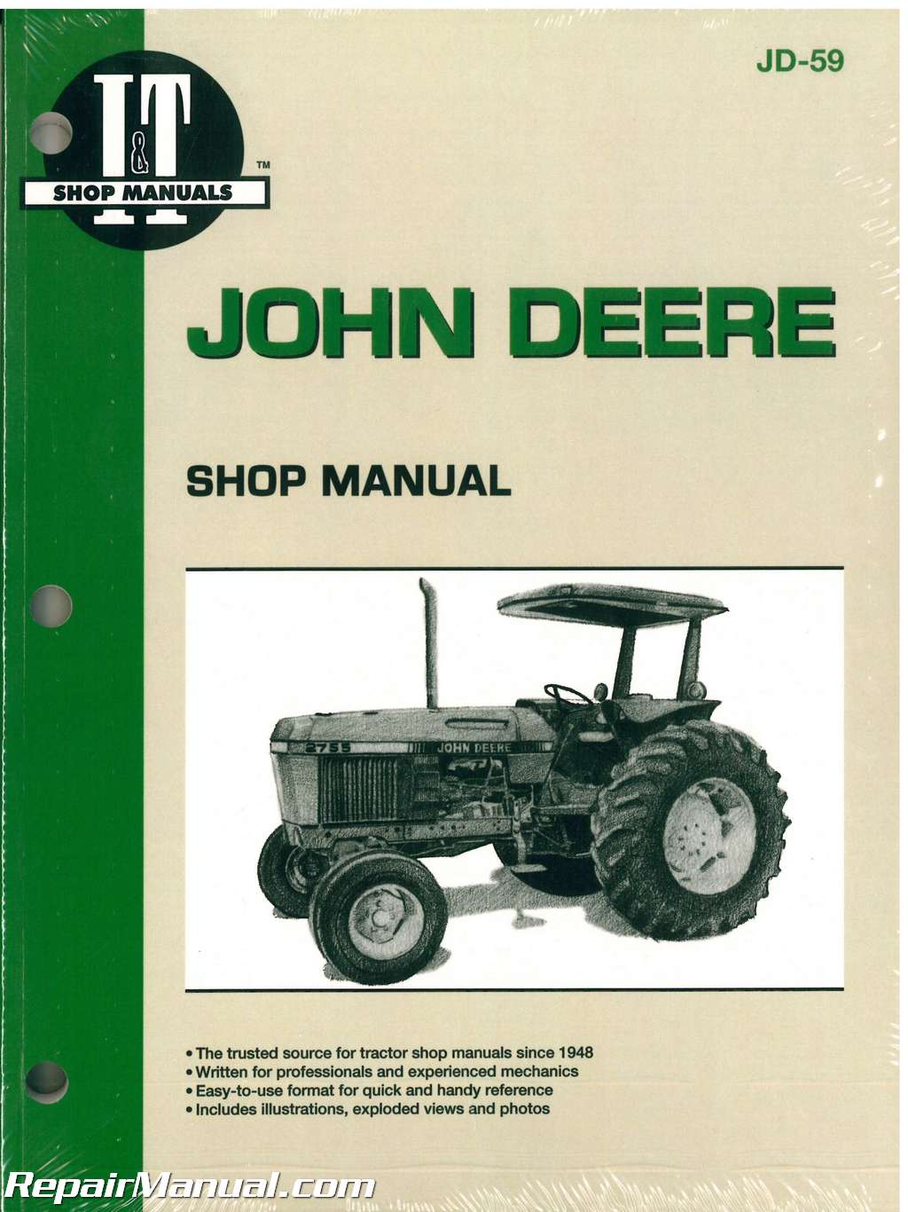 john deere 2750 2755 2855 2955 tractor workshop manual rh repairmanual com Wii Remote Manual Wii Remote Manual