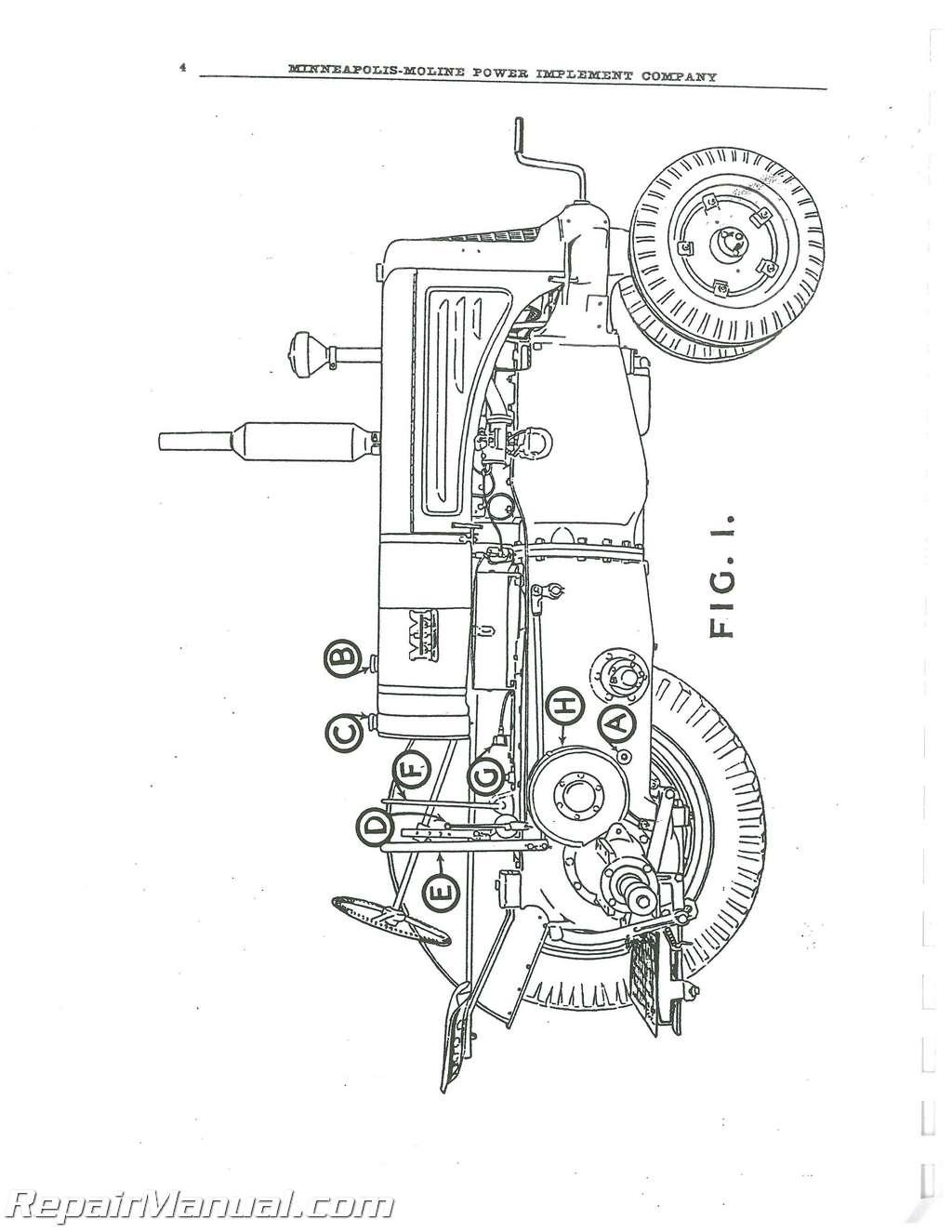 minneapolis moline universal z 1938 to 1948 service manual