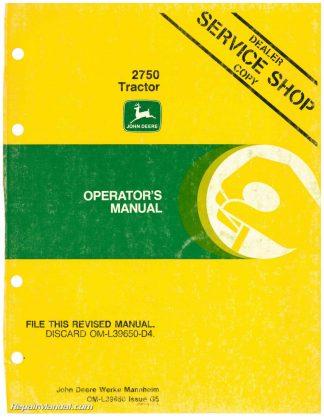 john deere 2750 tractor operators manual rh repairmanual com John Deere 265 Schematic John Deere Electrical Diagrams