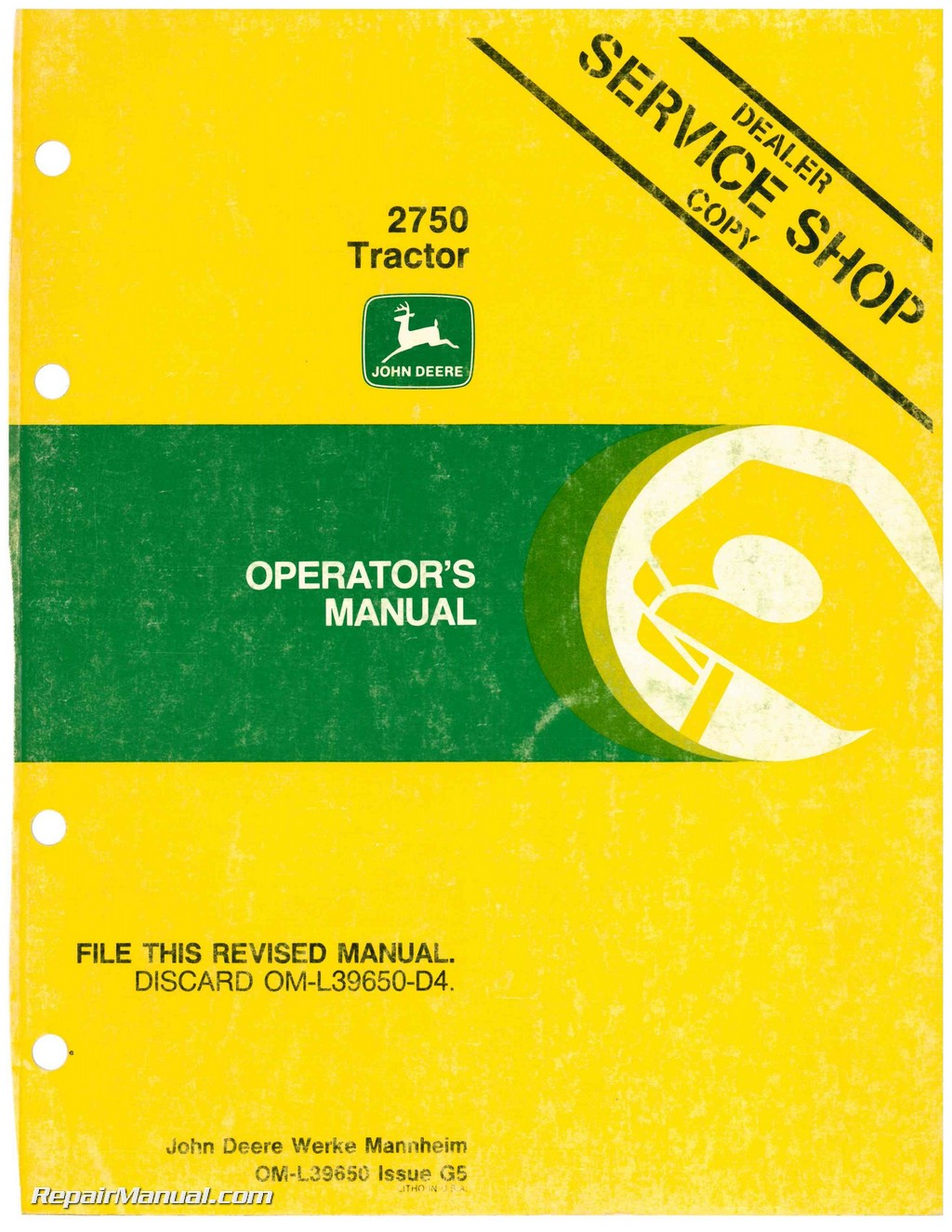 John Deere 2750 Wiring Diagram Jd 630 Tractor Operators Manual 1010