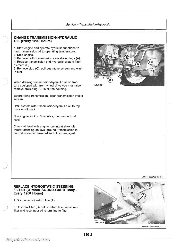 John Deere 2750 Wiring Diagrams Free Not Lossing Diagram 110 Tractor Operators Manual Rh Repairmanual Com 6215