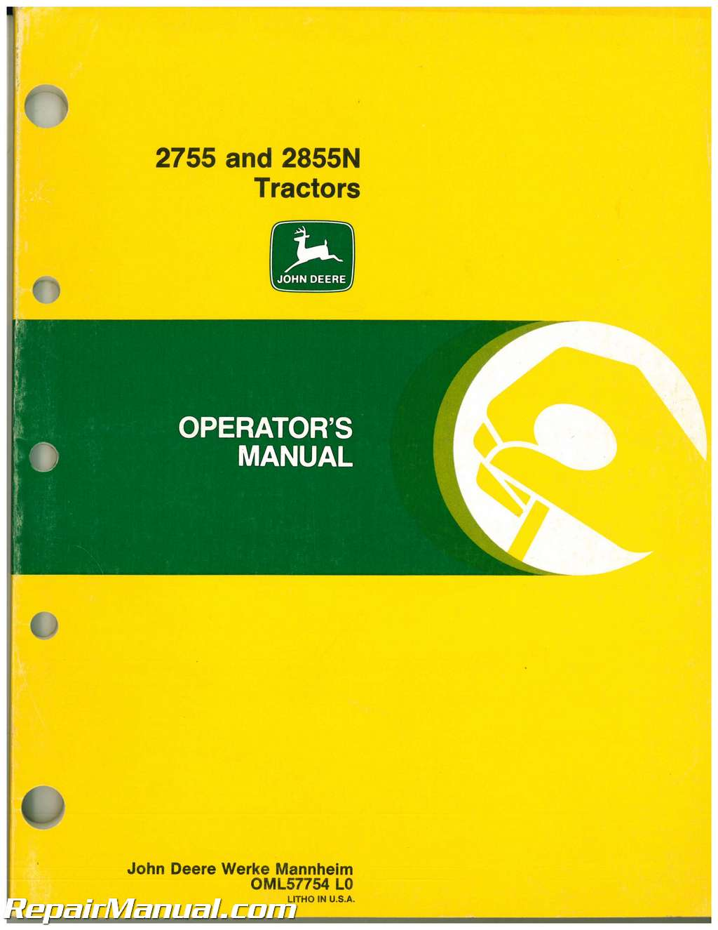 used john deere 2755 and 2855n tractors operators manual rh repairmanual com JD 2755 Craigslist JD 2755 Shifter Knobs