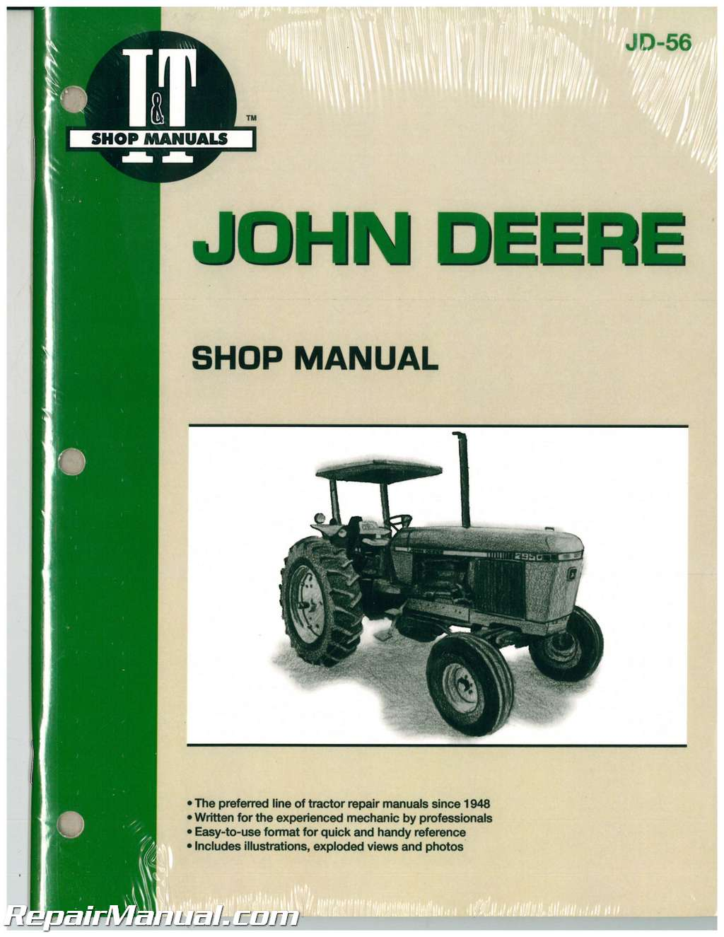 john deere 2840 2940 2950 tractor workshop manual jd 56 John Deere L100 Wiring-Diagram