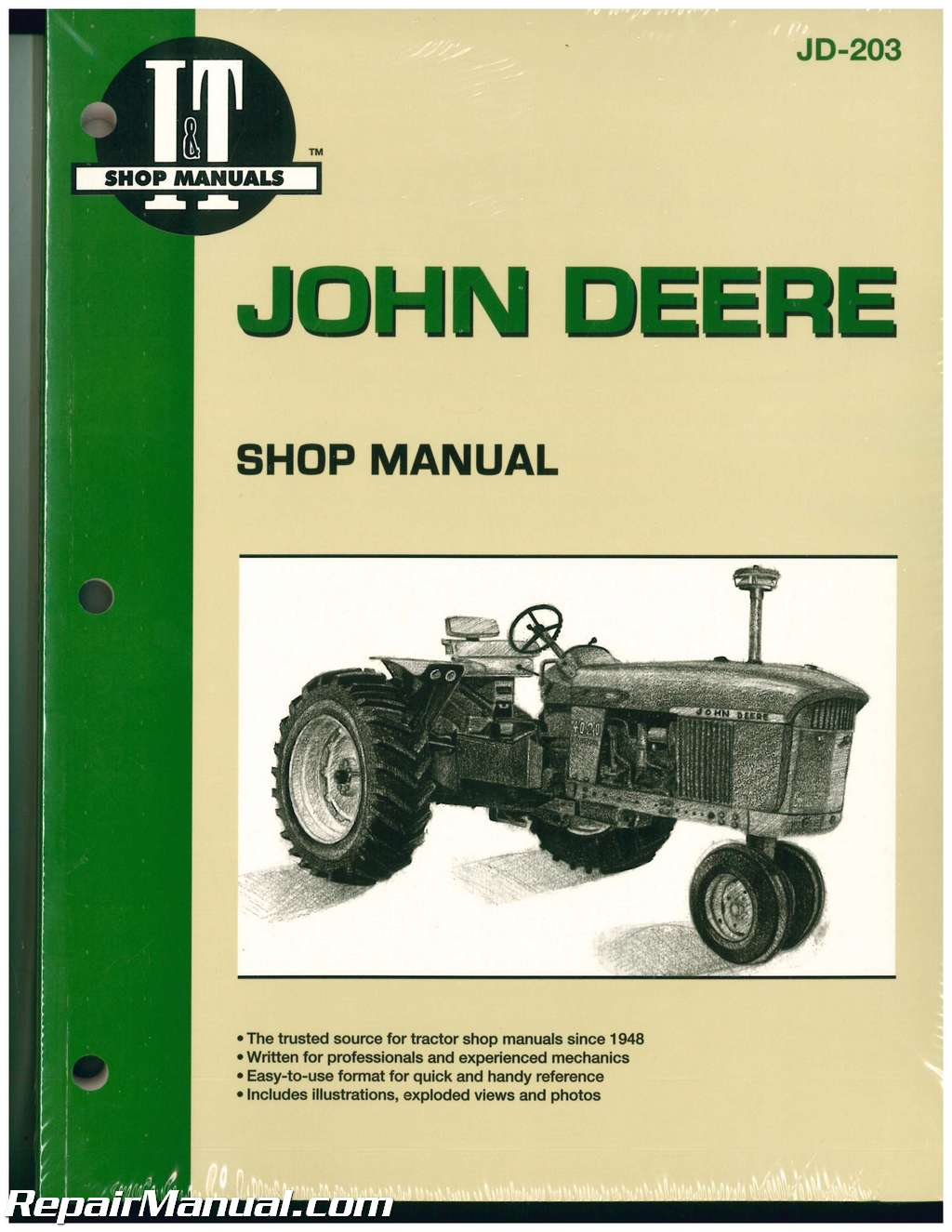 John Deere 3010 3020 4000 4010 4020 4320 4520 4620 5010 5020 and 6030  Tractor Manual