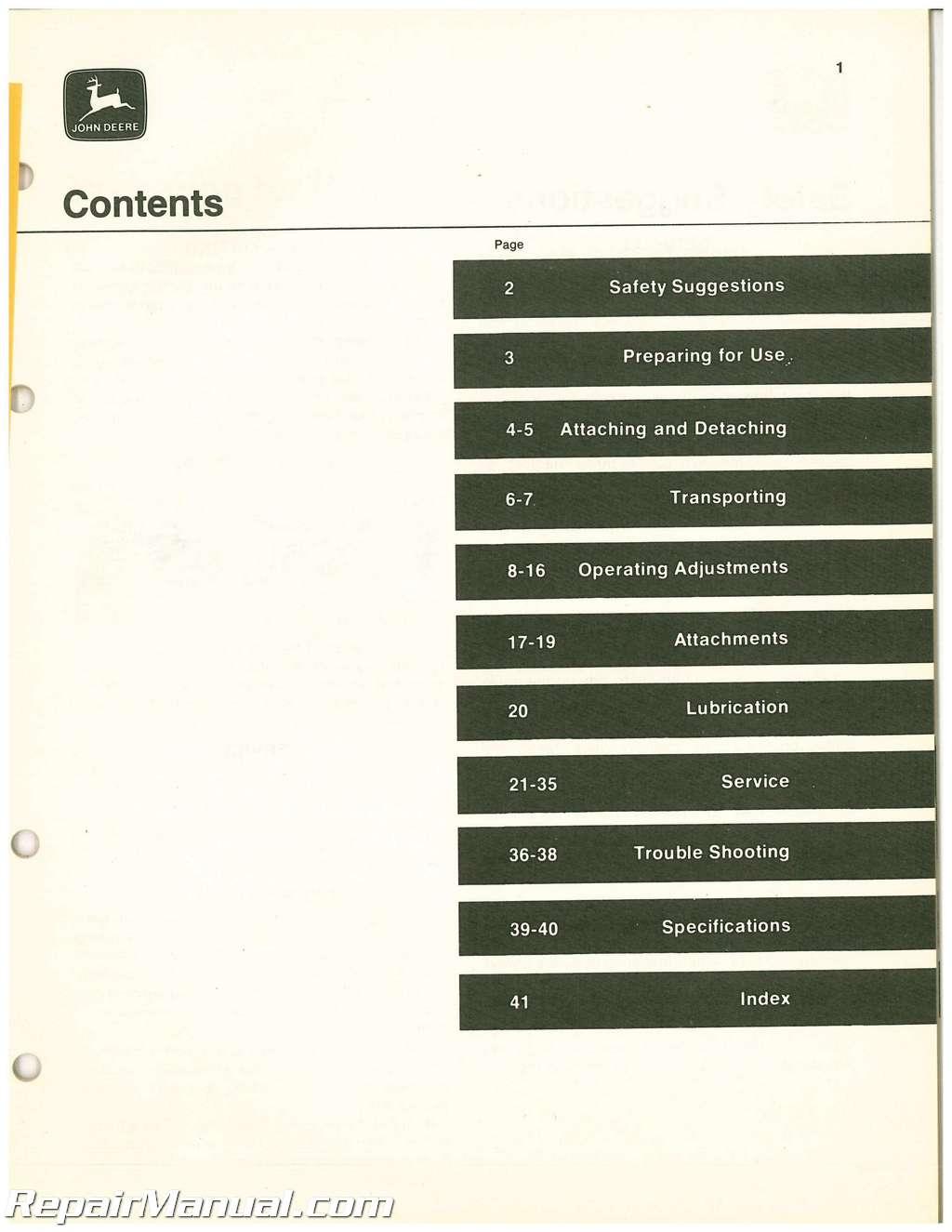 John Deere 310c Repair manual