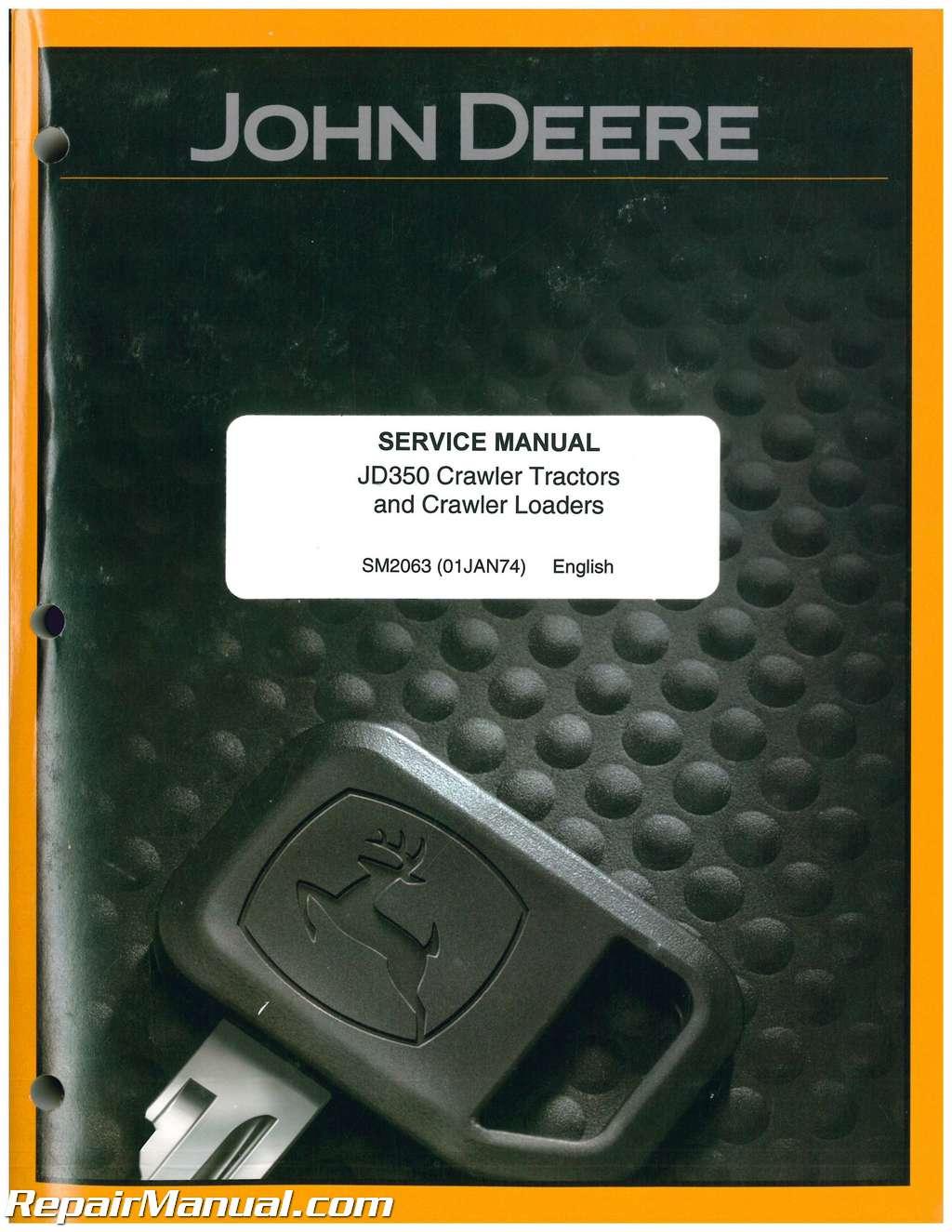John Deere For Sale >> John Deere 350 Service Manual