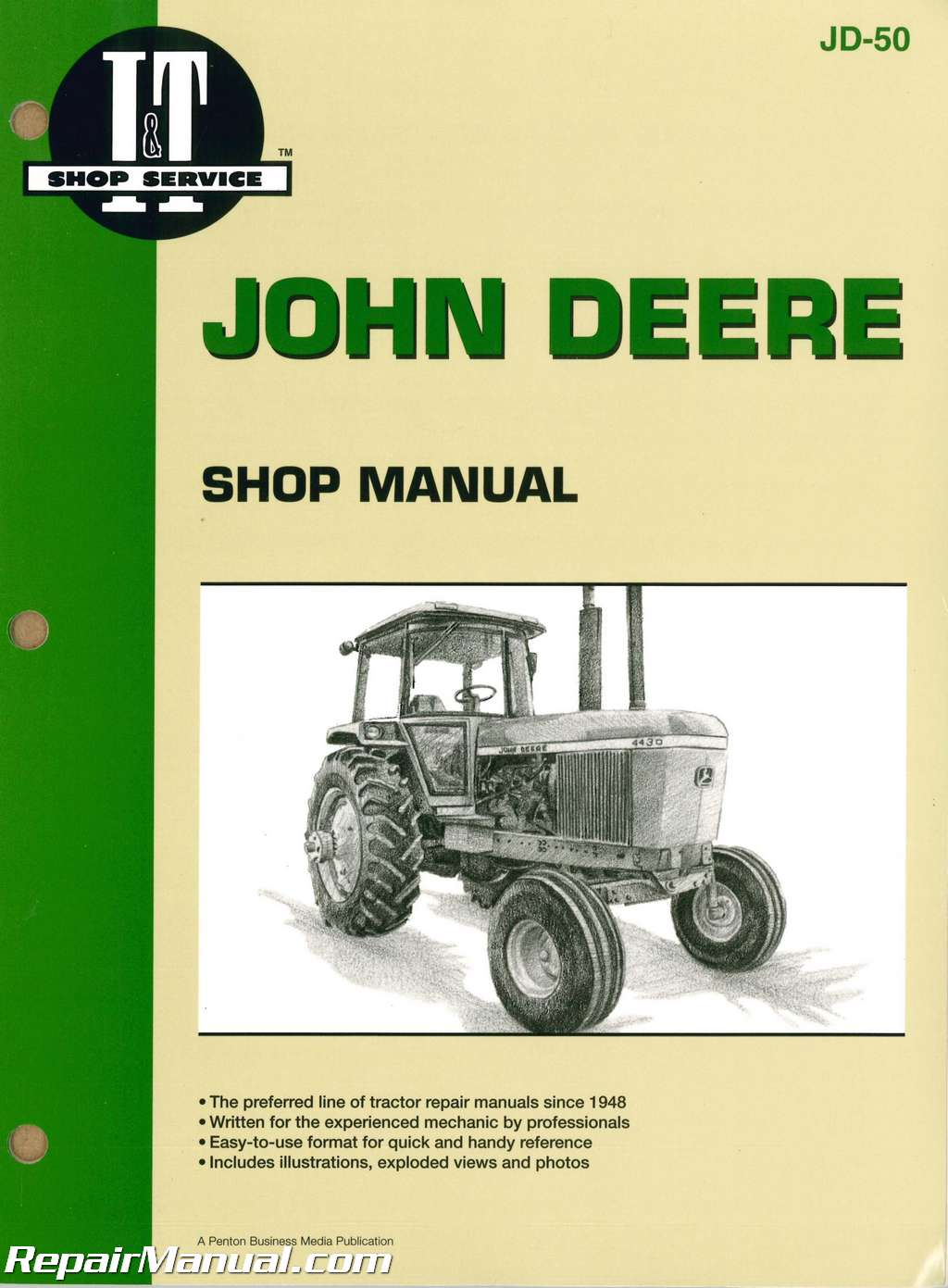 john deere 4030 4230 4430 4630 tractor workshop manual rh repairmanual com