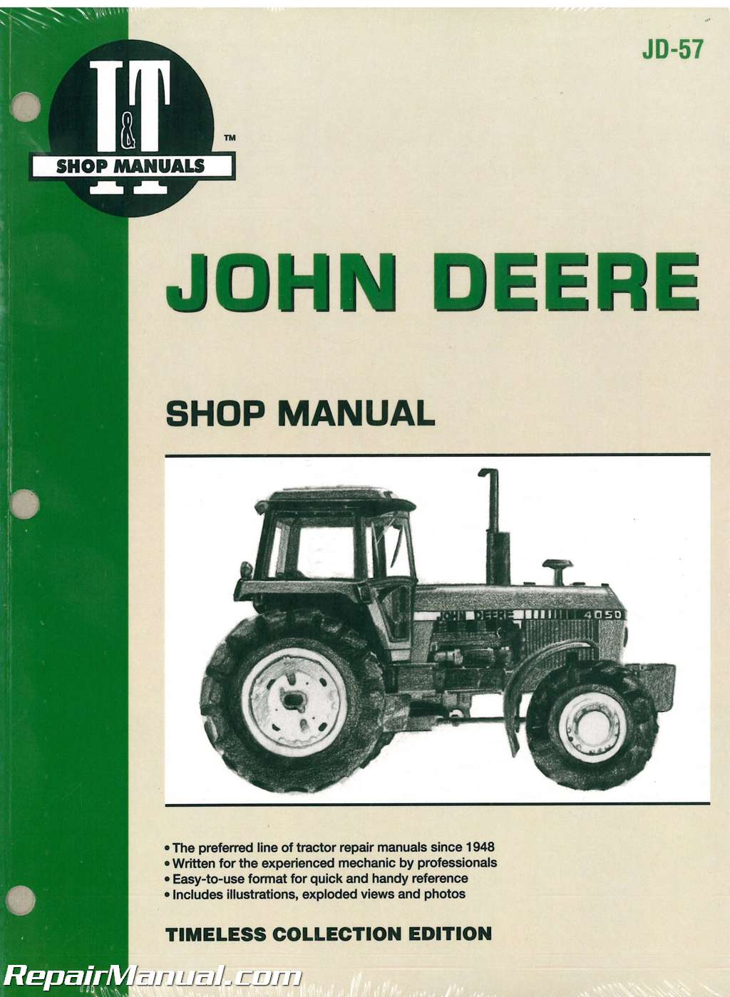 john deere 4050 4250 4450 4650 4850 tractor service manual rh repairmanual com john deere d110 repair manual john deere d140 repair manual