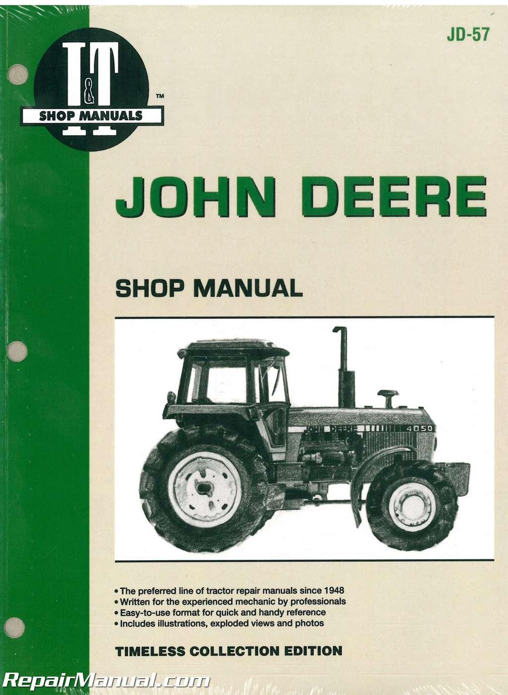 john deere tractor service manual john deere 4050 4250 4450 4650 4850 tractor