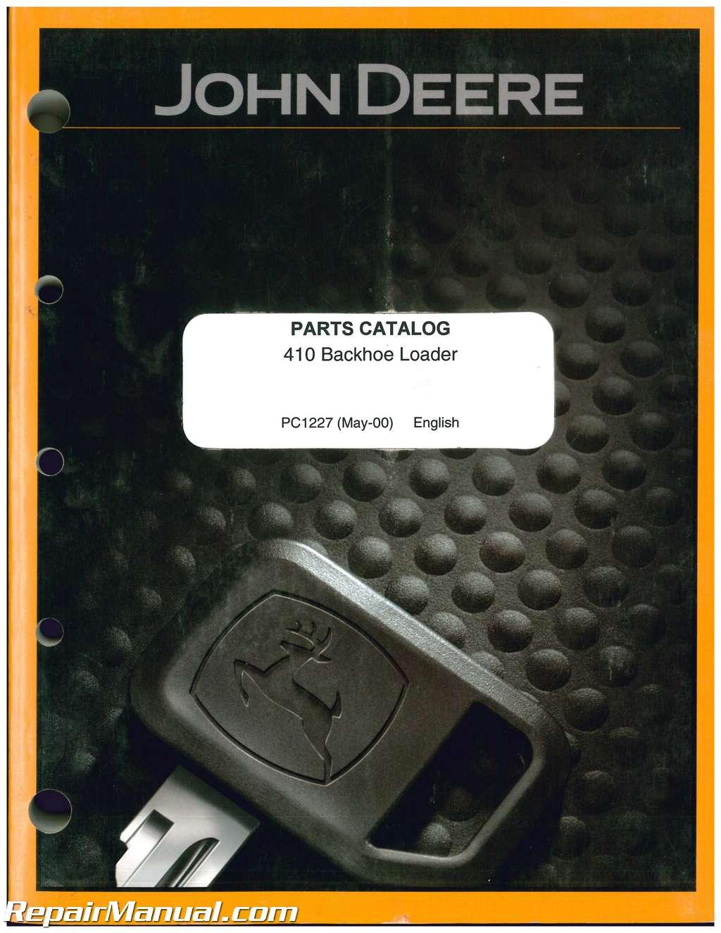 john deere 410 loader backhoe parts manual rh repairmanual com 410 John Deere Operator Manual John Deere JD 410 Service Manual