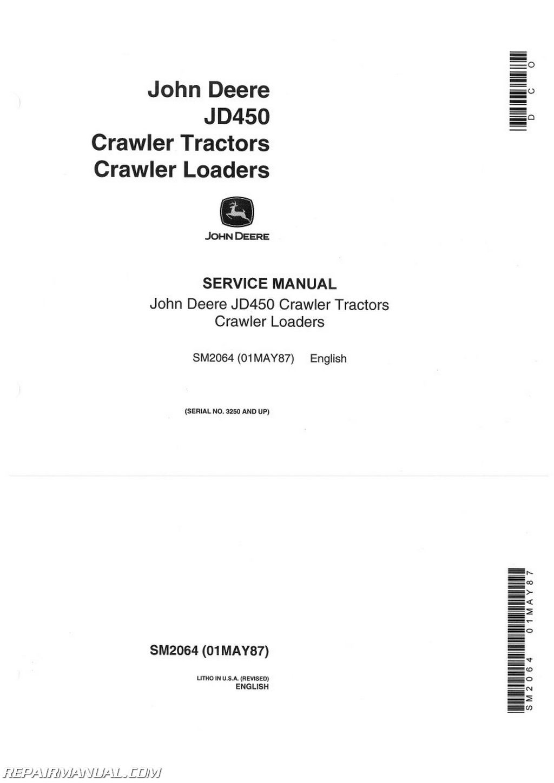 John Deere Tractor Loader Backhoe Manuals - Page 46 of 47 - Repair Manuals  Online