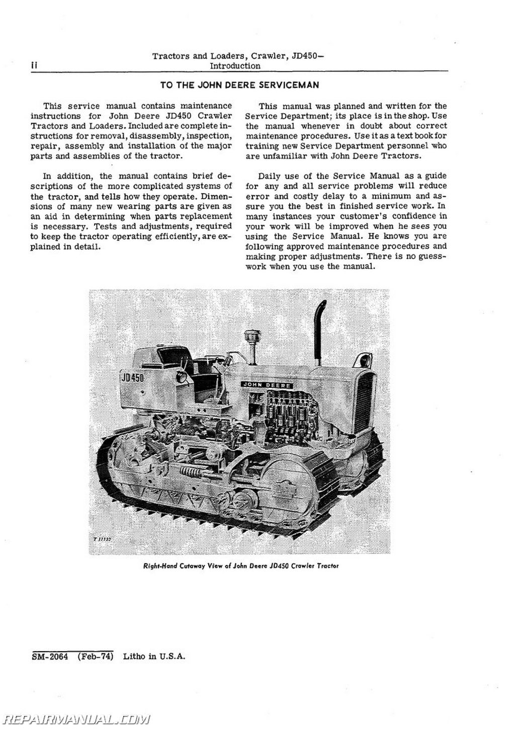 John Deere Crawler dozer manual
