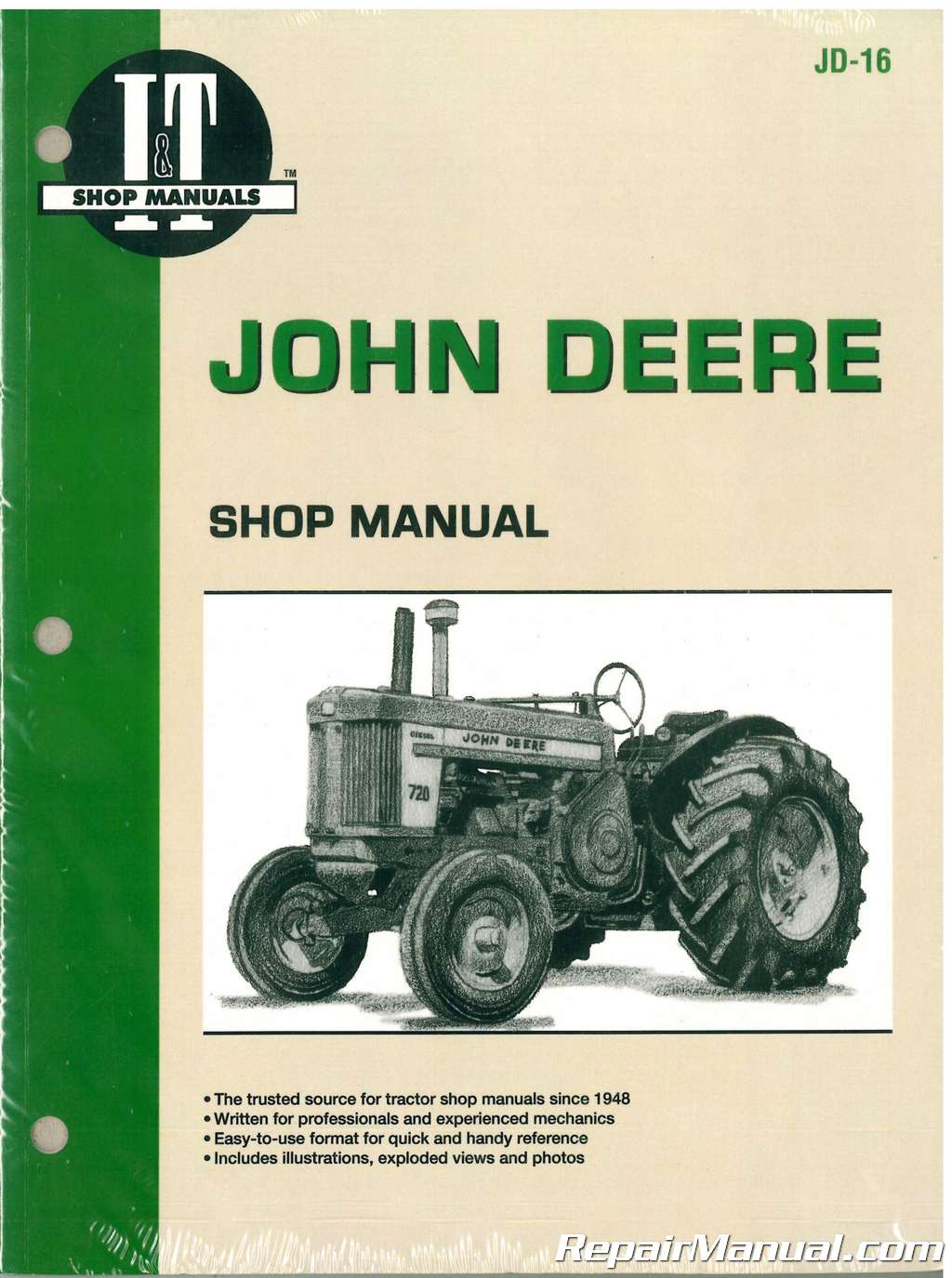john deere 520 530 620 630 720 730 tractor repair manual rh repairmanual com tractor service repair manuals steyr tractor repair manual