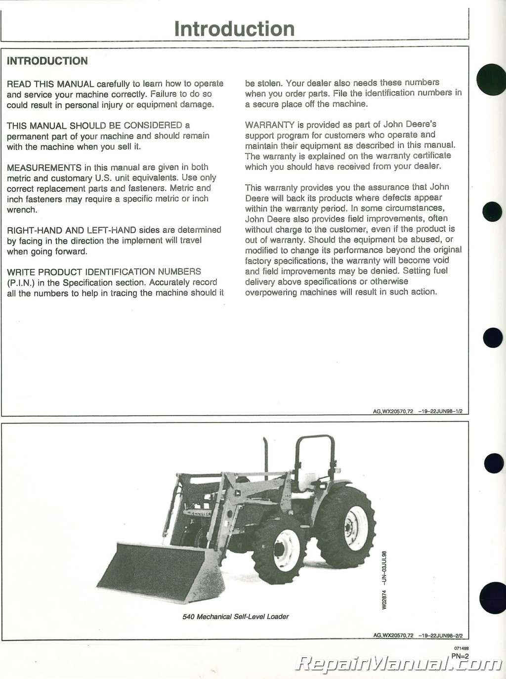 Top 540 Complaints And Reviews About John Deere Manual Guide