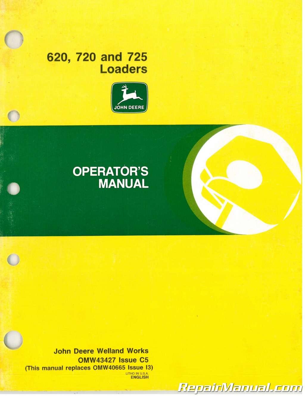 used john deere 620 720 725 loaders operators manual rh repairmanual com john deere 325 service manual pdf john deere 325 service manual