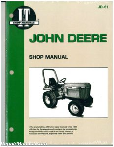 John Deere Tractor Workshop Manual X
