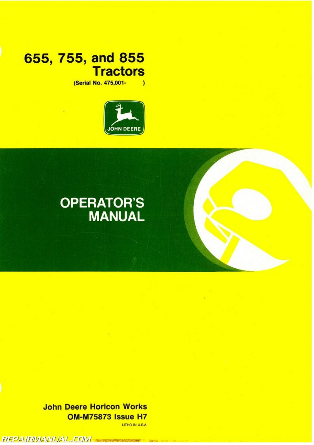 John deere 655 755 855 tractors operators manual asfbconference2016 Image collections
