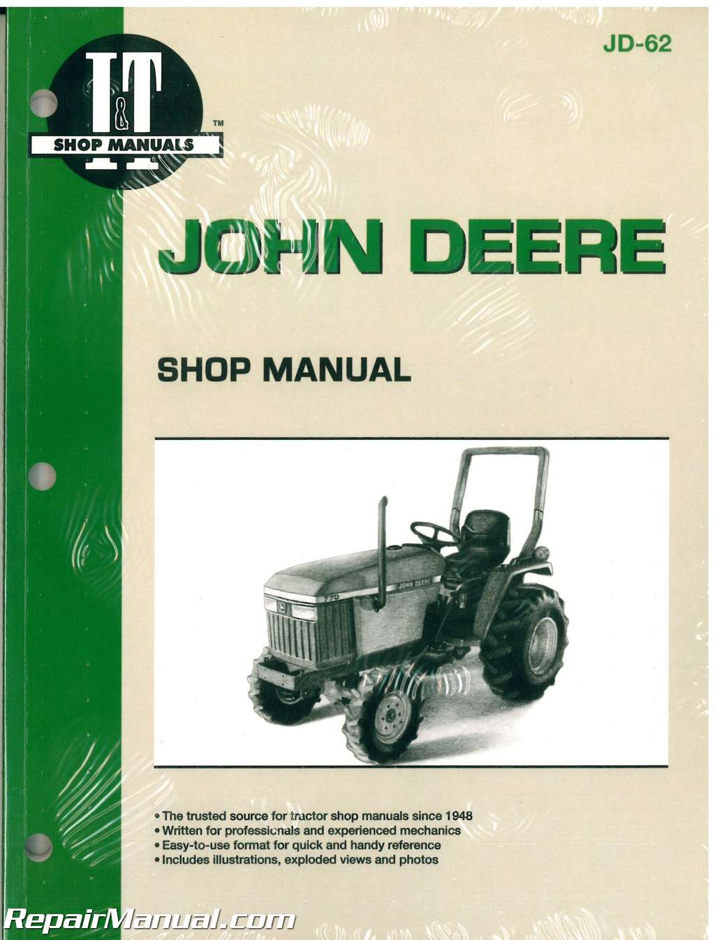 john deere 670 770 870 970 1070 tractor workshop service manual rh repairmanual com