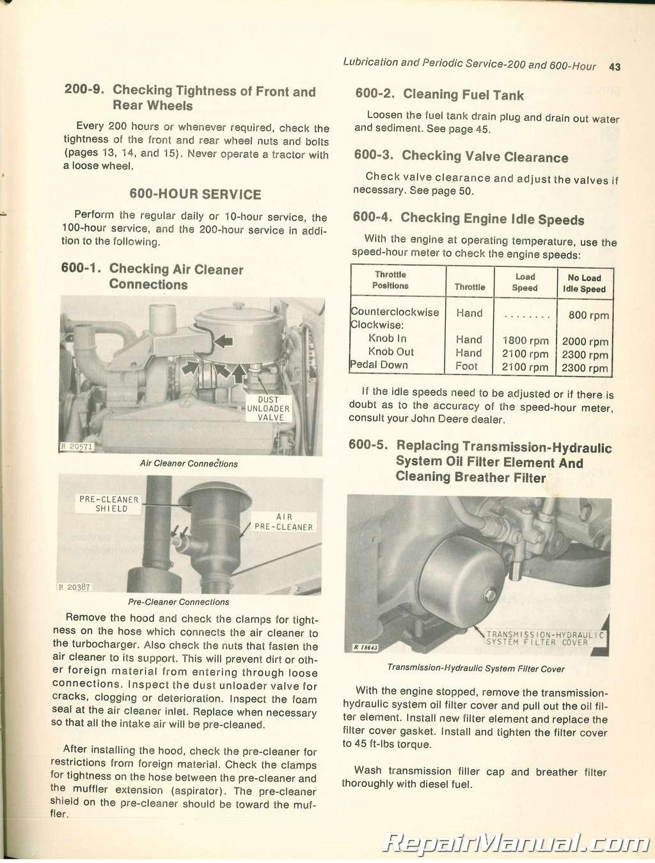 John Deere 7520 Tractor Operators Manual