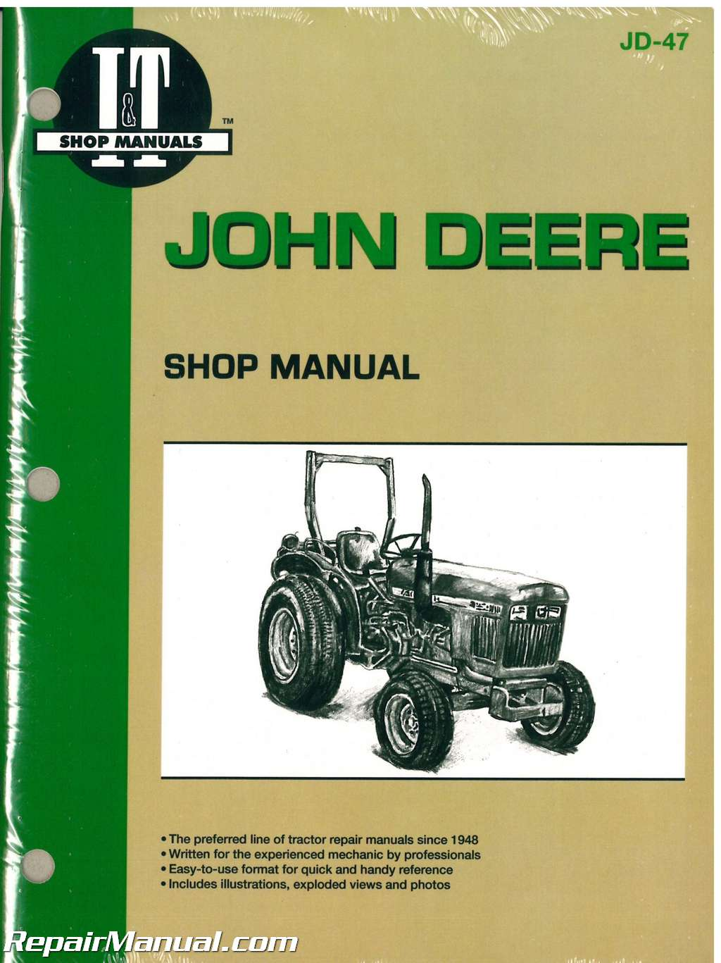 John Deere 850 950 1050 Tractor Workshop Manual   Jd