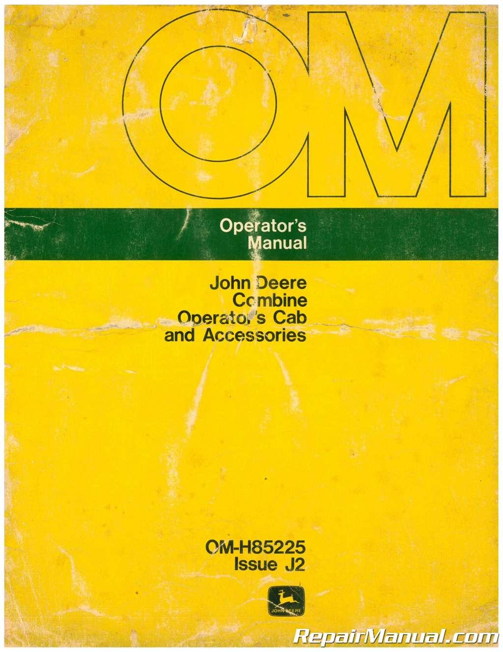 Used John Deere Combine Operators Cab And Accessories Manual Jd 575 Skid Steer Wiring Diagram 001