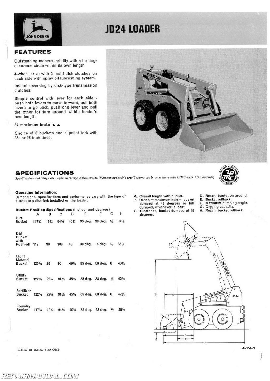 John Deere Jd24 Loader Service Manual