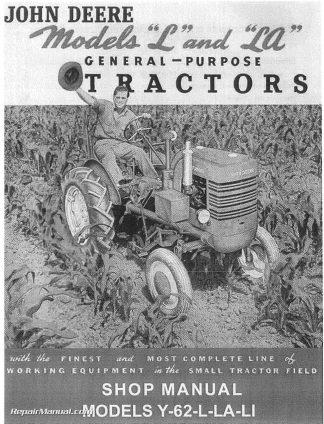 you're viewing: john deere l la li y 62 tractor service manual $49 34 $38 95