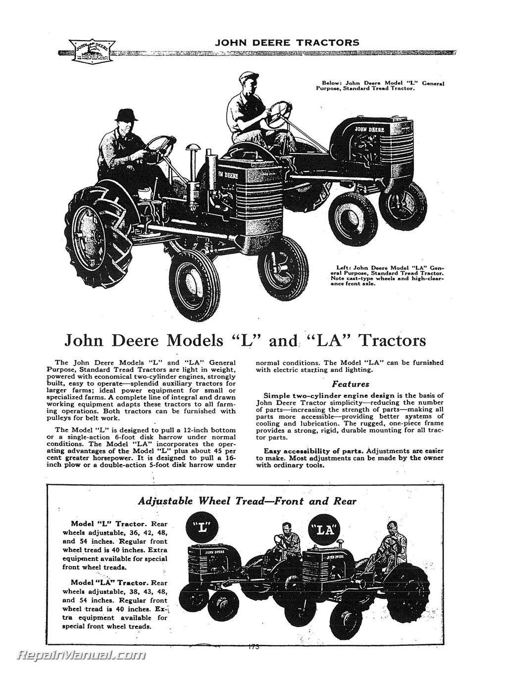 John Deere Tractor Service Manuals : John deere l la li y tractor service manual