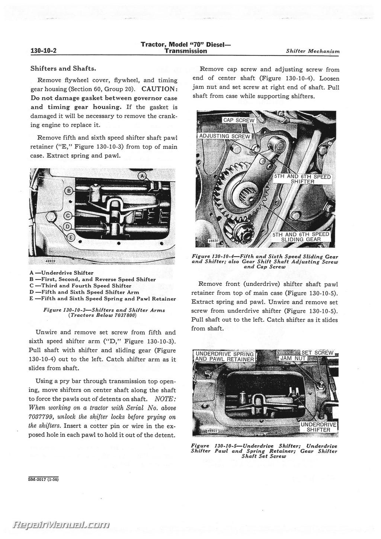John Deere Tractor Service Manuals : John deere model diesel tractor service manual ebay