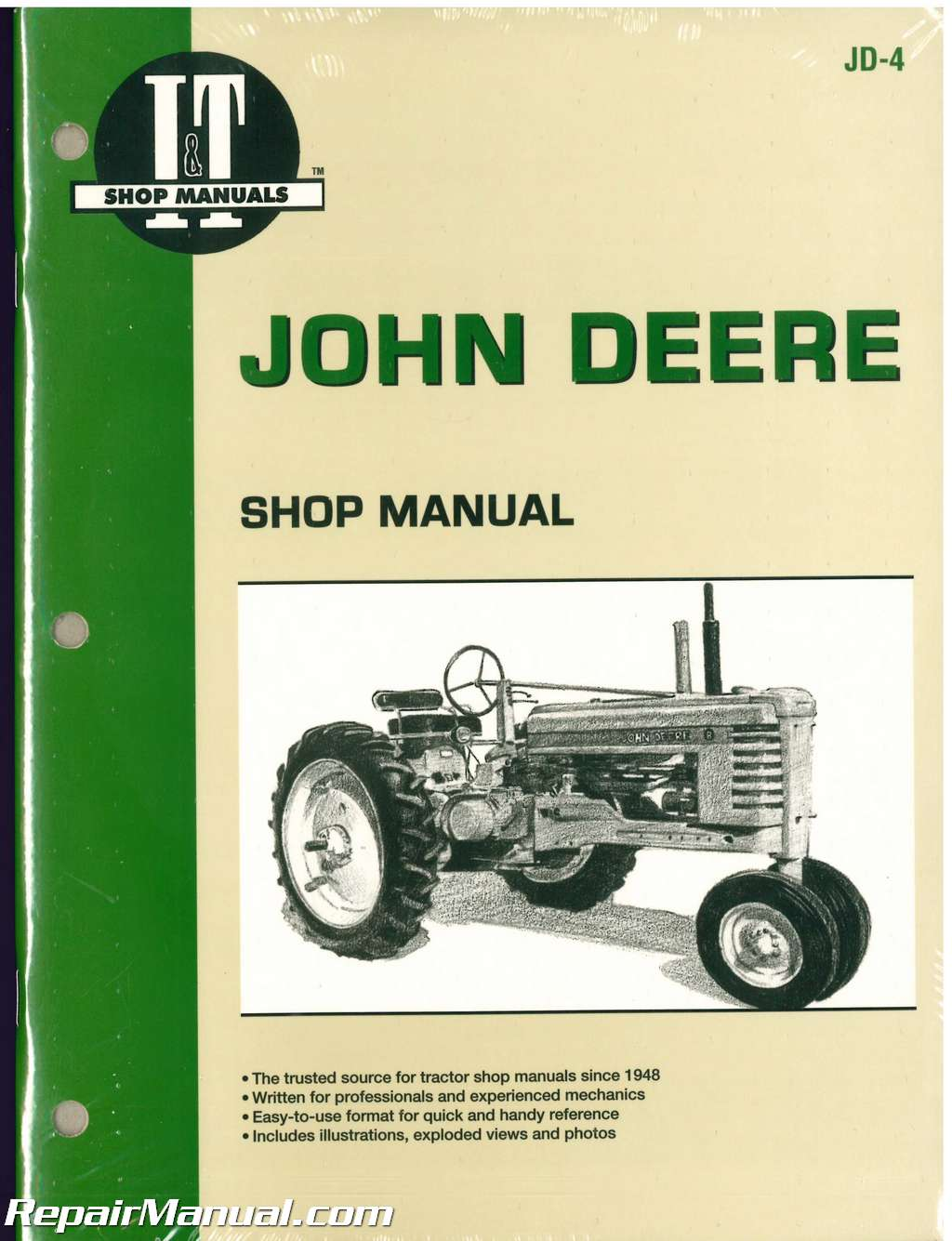 John Deere Series A B G H D M Mt Tractor Workshop Manual