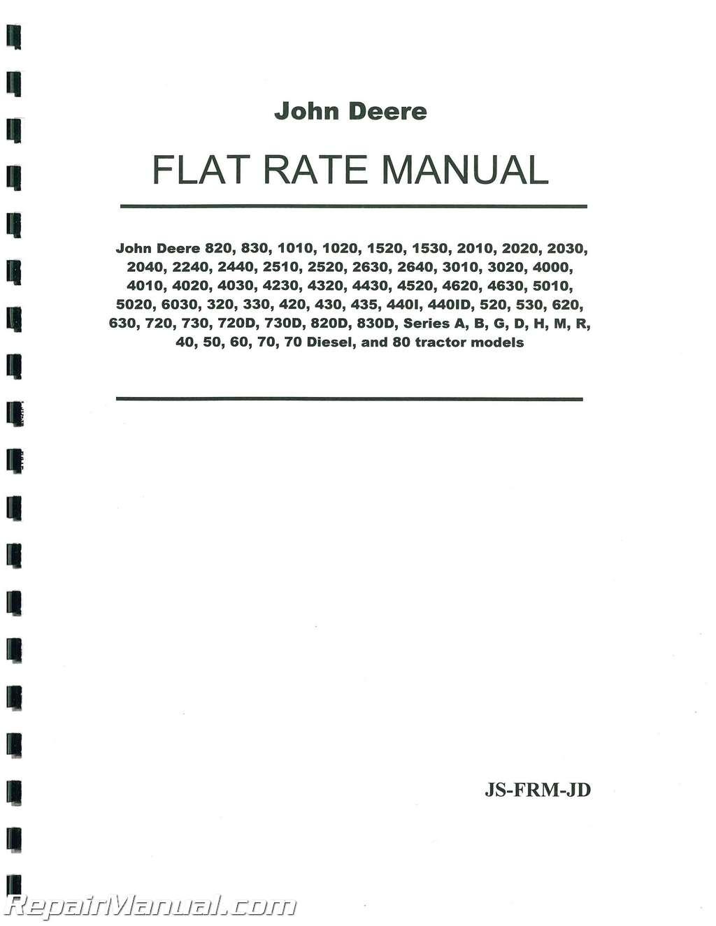 John Deere 820 Ignition Wiring Diagram Books Of 2005 3120 Fuse Box Tractor Flat Rate Manual Rh Repairmanual Com