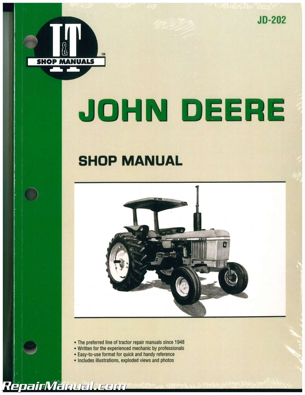 John Deere Tractor Manual 2040 2510 2520 2240 2440 2630 2640 4040 Bosch  Alternator Wiring Diagram 2240 John Deere Alternator Wiring Diagram