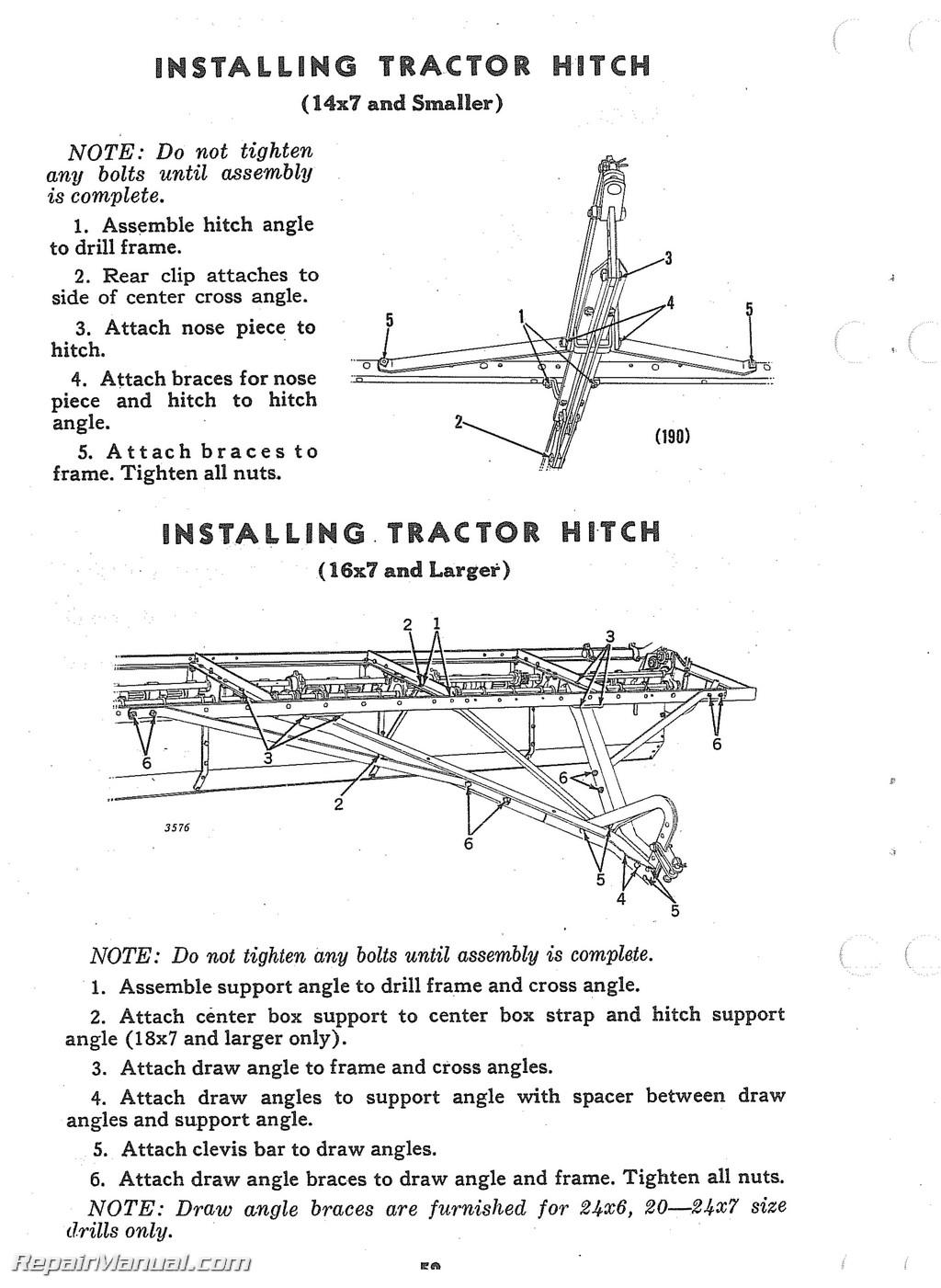 john deere van brunt model b grain drill operators manual parts rh ebay com User Manual PDF Instruction Manual