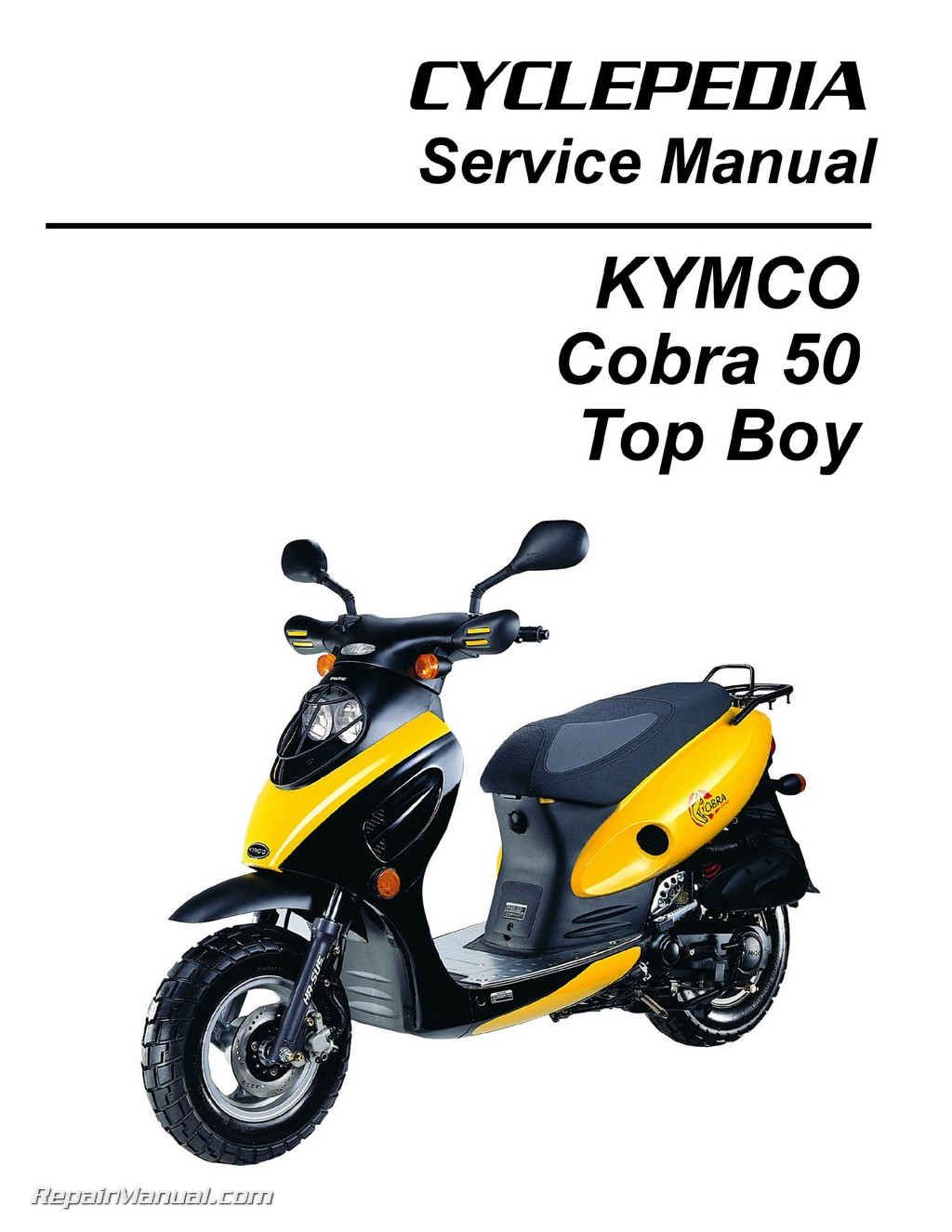 kymco cobra 50 top boy scooter service manual printed by. Black Bedroom Furniture Sets. Home Design Ideas