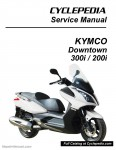 KYMCO Downtown 300i 200i Scooter Repair Manual in Print_Page_1