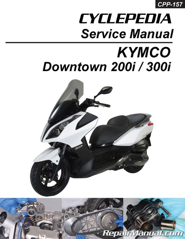 kymco downtown 300i 200i scooter repair manual in print. Black Bedroom Furniture Sets. Home Design Ideas
