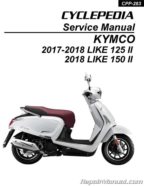 Kymco Like 125  150  Like Ii  Scooter Service Manual