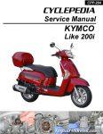 KYMCO Like 200i Cyclepedia Scooter Service Manual Printed