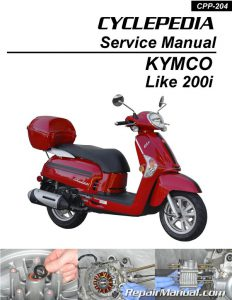 KYMCO Like 200i Cyclepedia Scooter Service Manual Printed