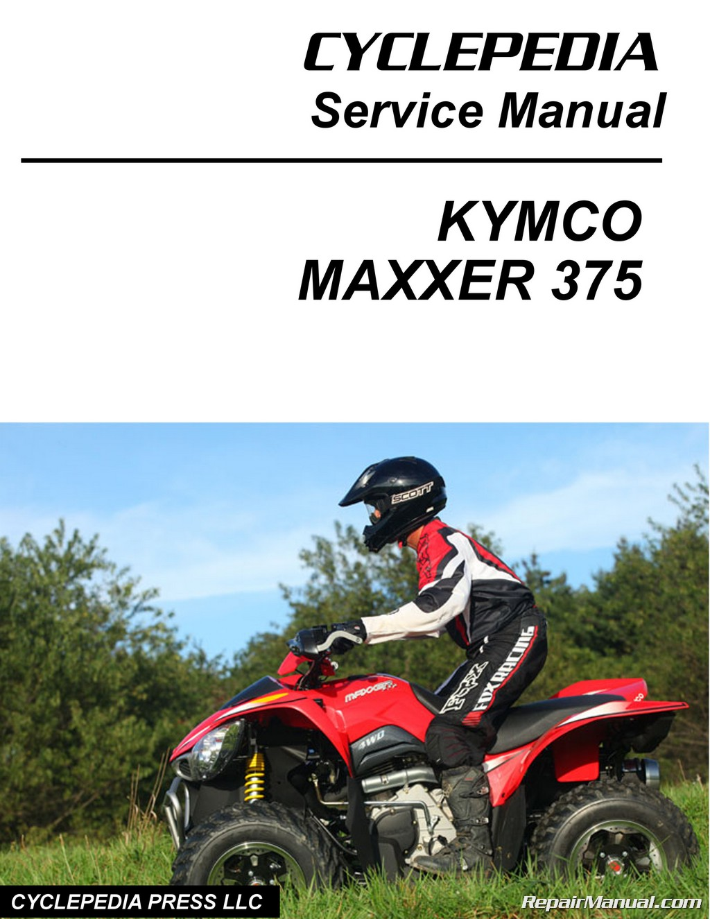 kymco maxxer 375 atv service manual printed by cyclepedia. Black Bedroom Furniture Sets. Home Design Ideas